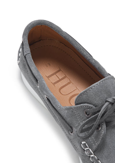 Deck Shoes, slate grey suede