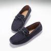 Laced Driving Loafers Navy Suede