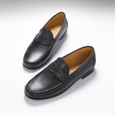 Black Leather, Penny Loafers, Leather Sole