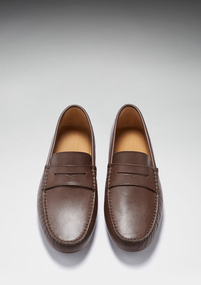 Penny Driving Loafers, brown leather