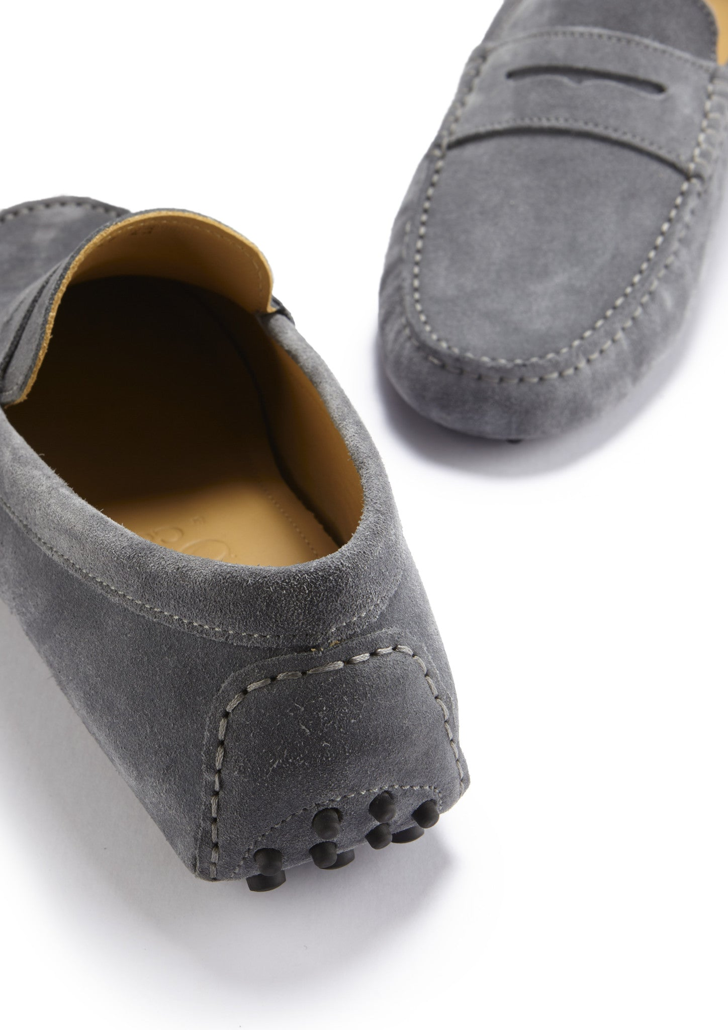 Penny Driving Loafers, slate grey suede