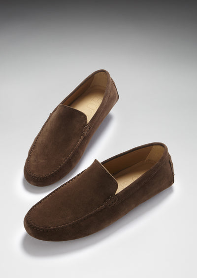 Driving Loafers Brown Suede