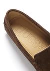 Insole, Driving Loafers Brown Suede