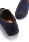 Driving Loafers Navy Suede Front and Back