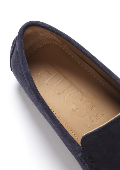 Insole, Driving Loafers Navy Suede