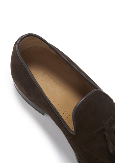 Insolde, Brogue Loafers, Brown Suede, Goodyear Welted