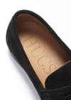 Insole, Black Suede, Penny Loafers, Leather Sole