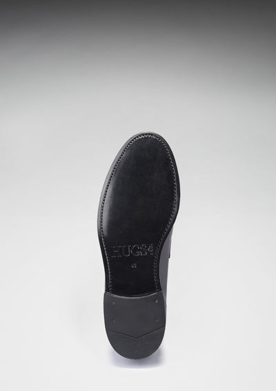 Leather Sole Welted Loafer Black