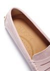 Women's Penny Driving Loafers, ice pink suede