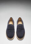 Blue Suede Crepe Loafer Front On