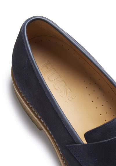Blue Suede Crepe Loafer Insole