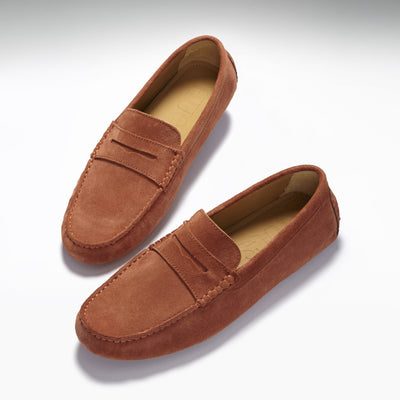 Penny Driving Loafers, rust suede