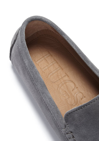 Insole, Driving Loafers Slate Grey Suede