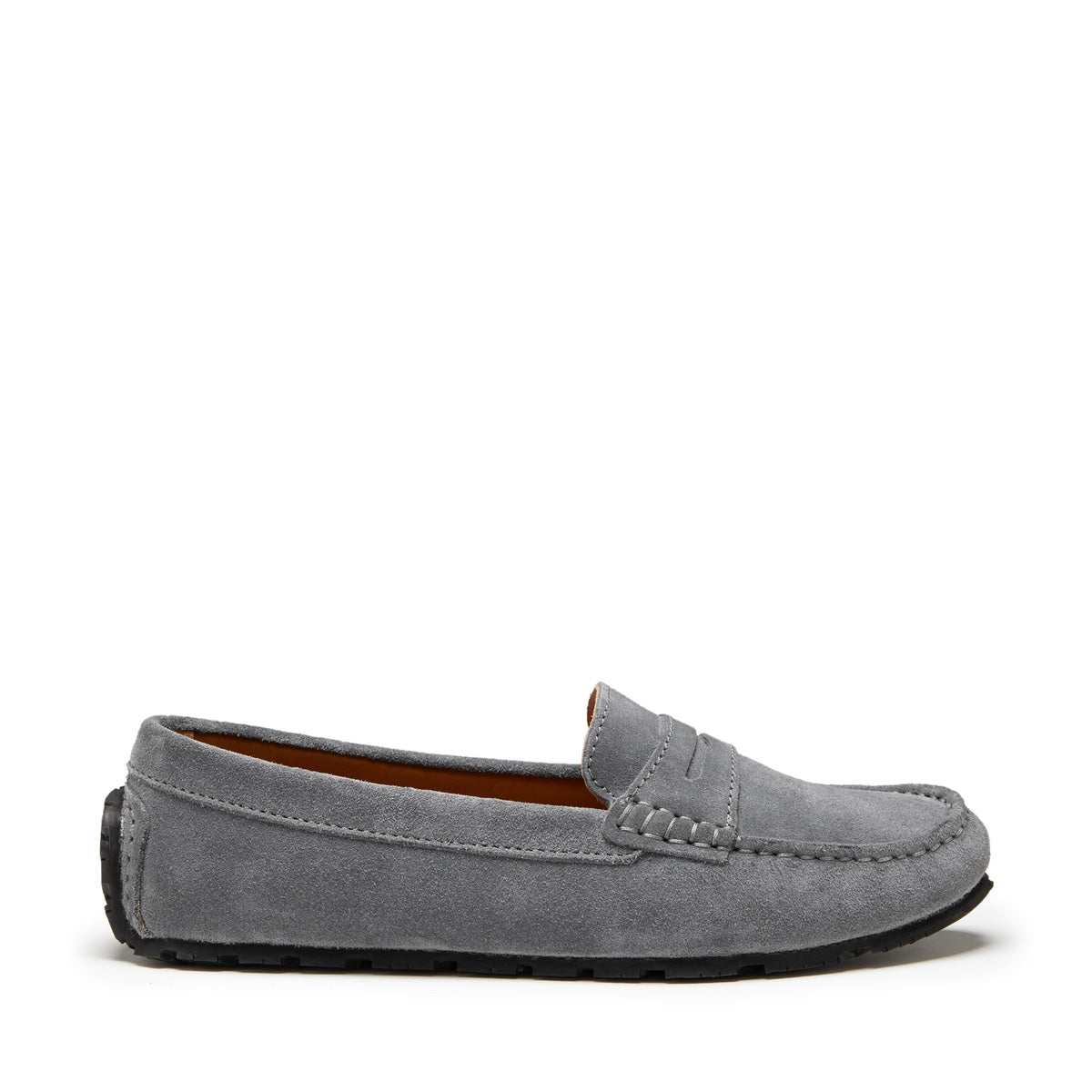 Women's Tyre Sole Penny Loafers, slate grey suede