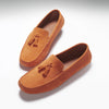 Tasselled Driving Loafers, burnt orange suede