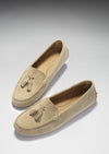 Women's Tasselled Driving Loafers, taupe suede