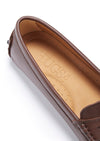 Women's Penny Driving Loafers, brown leather