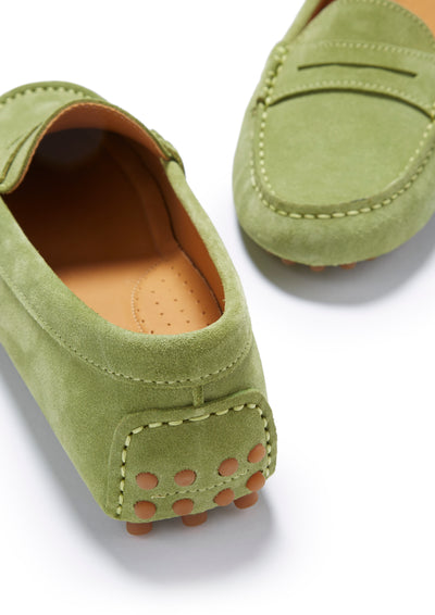 Women's Penny Driving Loafers, olive green