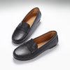 Women's Penny Driving Loafers Full Rubber Sole, black leather