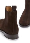 Women's Brown Suede Chelsea Boots, Welted Leather Sole
