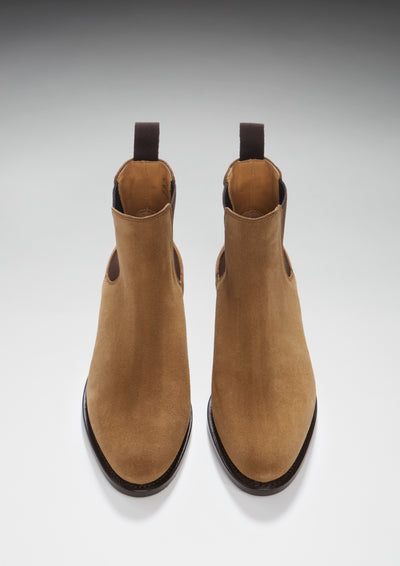 Women s Tobacco Suede Chelsea Boots ffd5932166