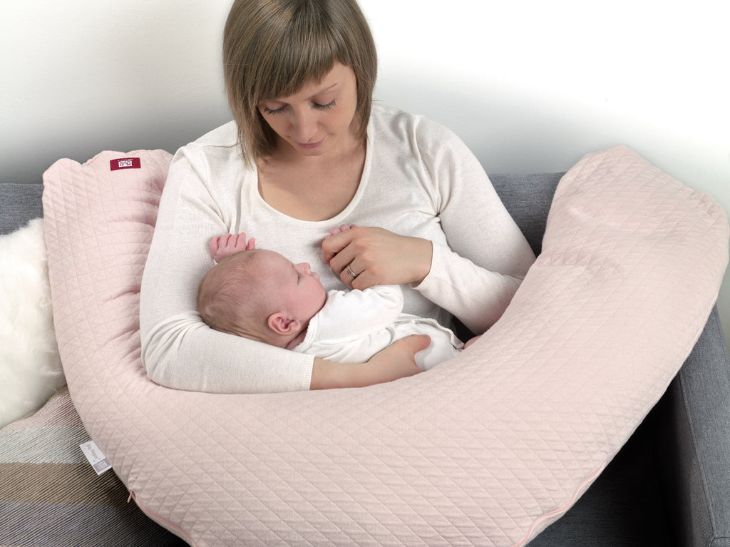 Pink Big Flopsy nursing pillow