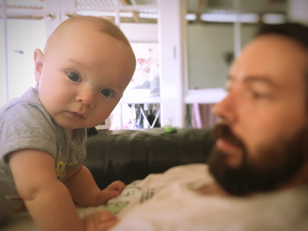 Tummy Time with Dad
