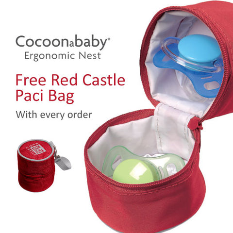 free paci bag soother carrier with every order cocoonababy. Black Bedroom Furniture Sets. Home Design Ideas
