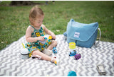 Beaba Vienna II Nappy Change Bag Blue in the park