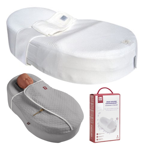 Cocoonababy Pack with Cocoonababy, spare fitted sheet and Grey Cocoonacover
