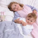 Comfortable children in Red Castle sleeping bags