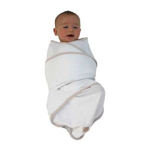 Baby swaddled in the Miracle Blanket