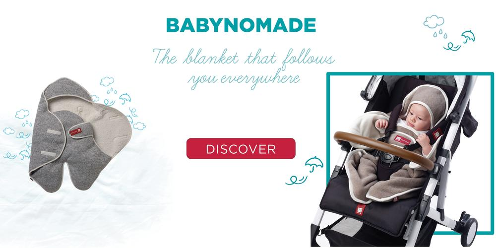 Babynomade, the blanket that follows baby everywhere