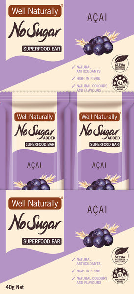 No Sugar Added Superfood Bars 35g – Acai x 16