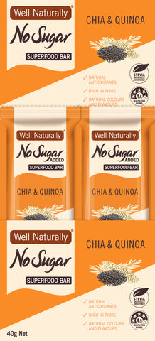 No Sugar Added Superfood Bars 35g – Chia & Quinoa x 16