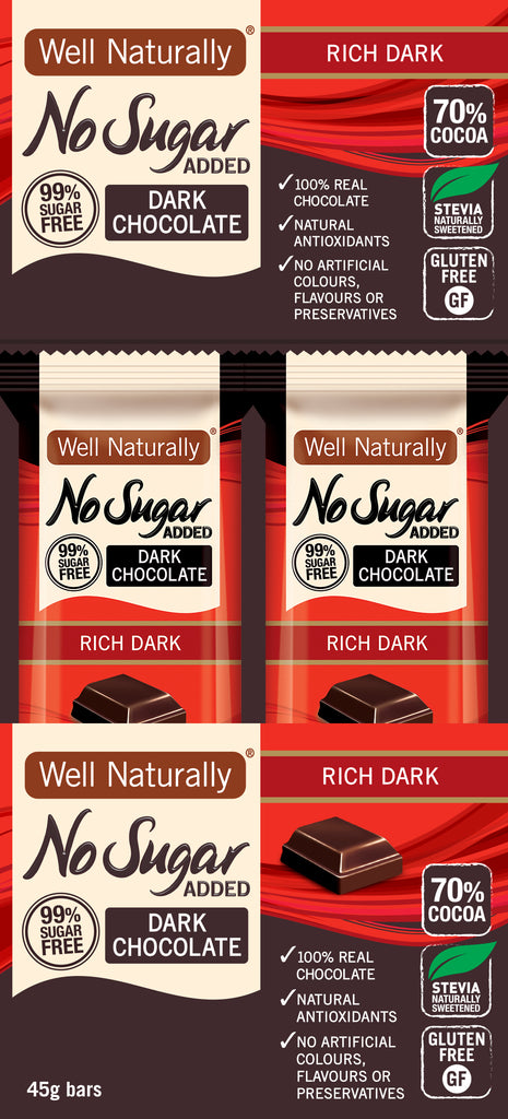 No Sugar Added Dark Chocolate - Rich Dark x16