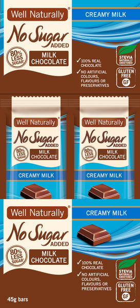 No Sugar Added Milk Chocolate - Creamy Milk x16