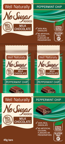 No Sugar Added Milk Chocolate - Peppermint Chip x16
