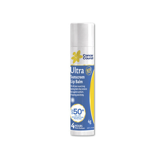 Cancer Council Ultra SPF 50+ 4g Lip Balm