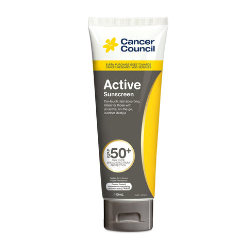 Cancer Council Active SPF 50+ Sunscreen 110ml Tube