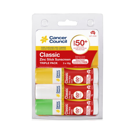 Cancer Council Classic SPF 50+ Sunscreen Zinc Sticks