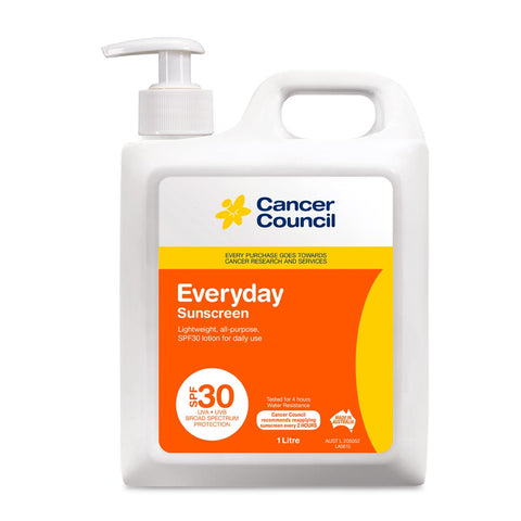 Cancer Council Everyday SPF30+ Sunscreen 1 Litre Pump