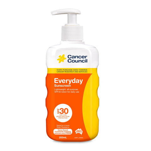 Cancer Council Everyday SPF30+ Sunscreen 200ml Finger Pump