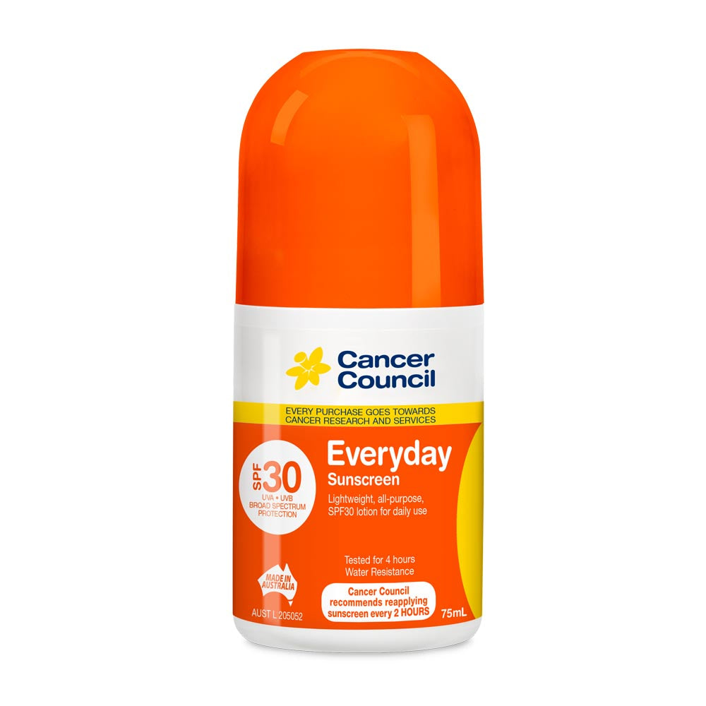 Cancer Council Everyday SPF 30+ Sunscreen 75ml Roll On