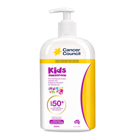 Cancer Council Kids SPF 50+ Sunscreen 500ml Pump