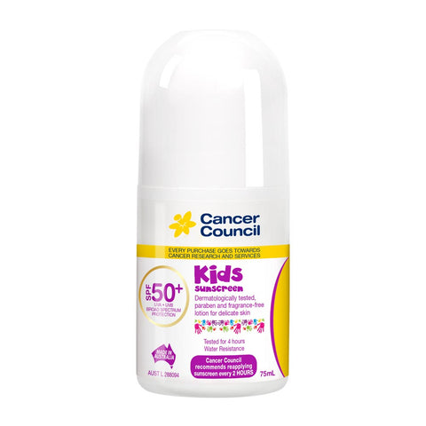 Cancer Council Kids SPF 50+ Sunscreen 75ml Roll On