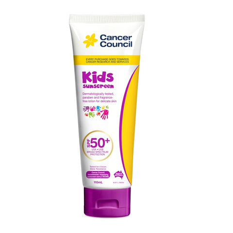 Cancer Council Kids SPF 50+ Sunscreen 110ml Tube