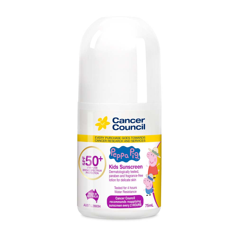 Cancer Council Peppa Pig Kids SPF 50+ Sunscreen 75ml  Roll On