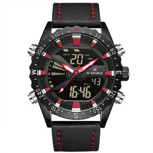 Naviforce Chrono Digitaal Leerband