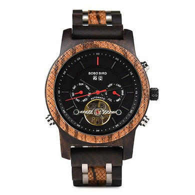 Bamboo Hout Automaat Chrono Recilo